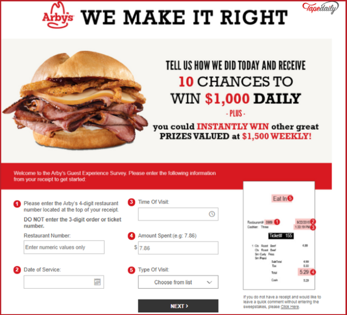 arbyswemakeitright.com online survey 2021