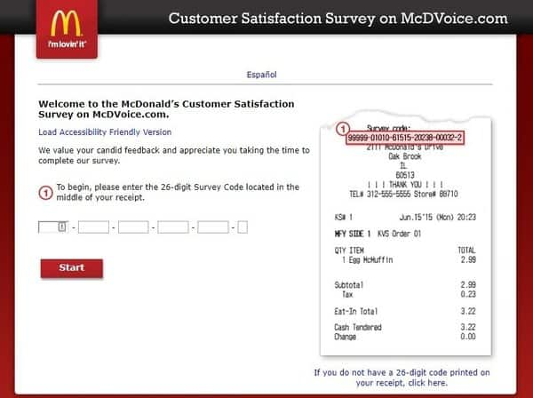 www.mcdvoice.com - McDonald's Customer Satisfaction Survey